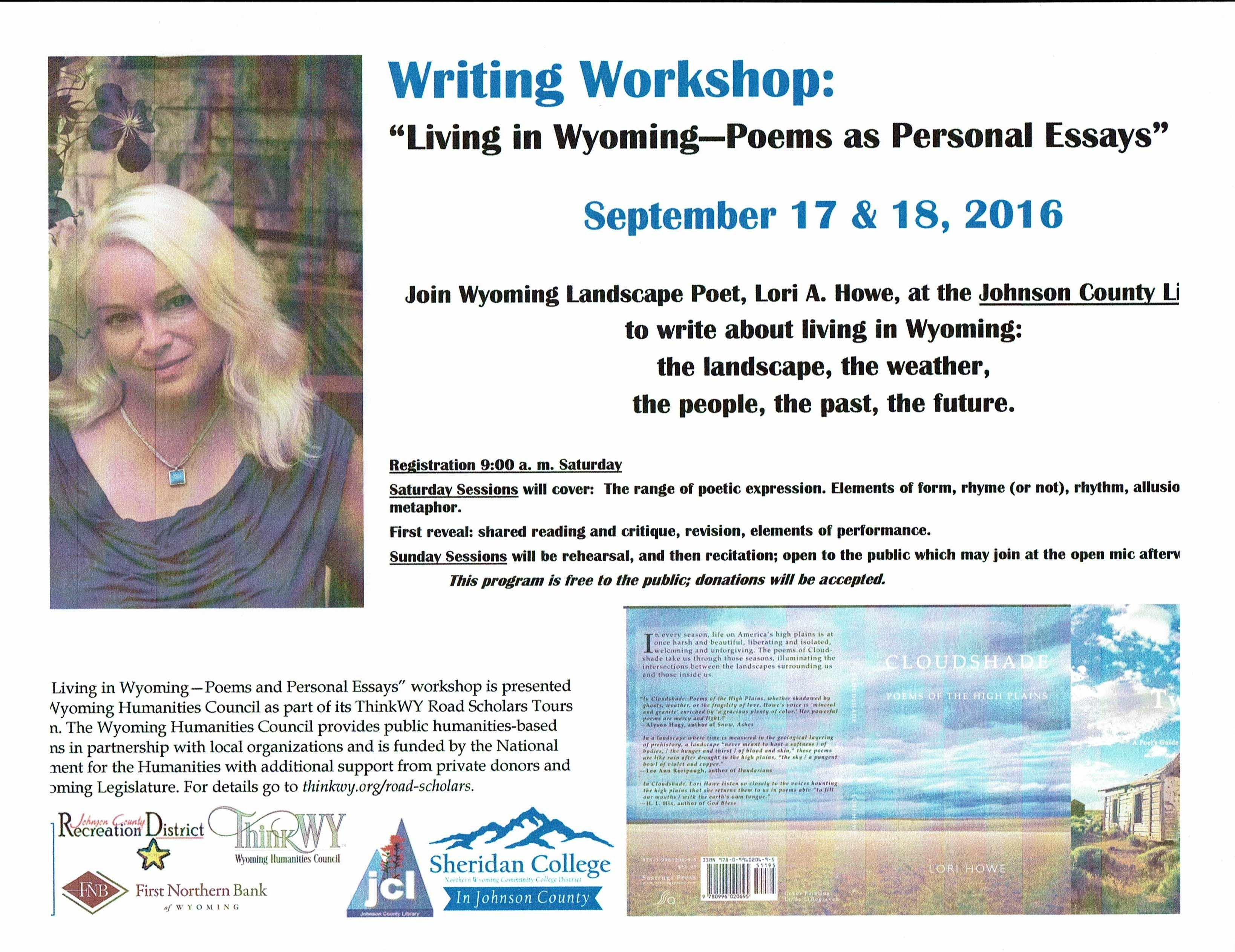 2016 Poetry Workshops (past)
